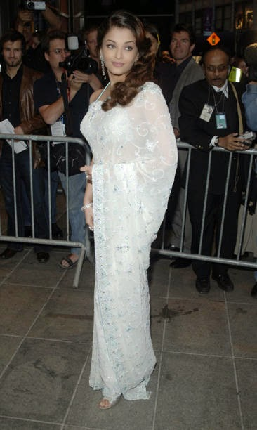 Aishwarya Rai in white sari