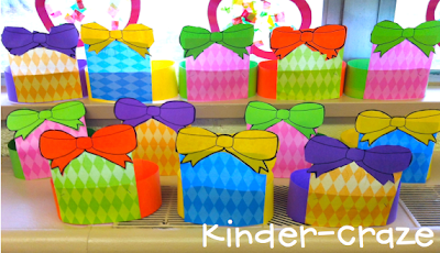 FREE download to create cute headbands that look like gifts! Perfect for celebrating a birthday!