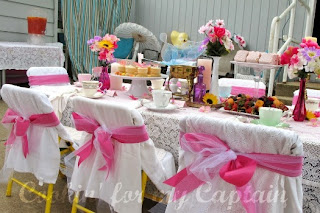 Tea Party Chairs by Cookin for My Captain as seen on Make and Takes