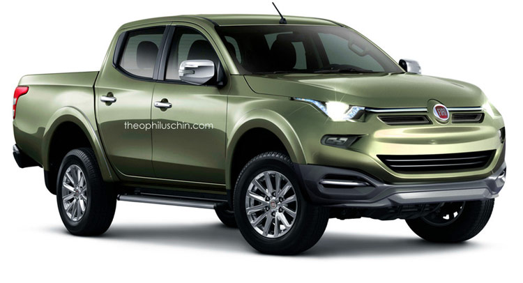 Fiat's Re-Badged 2015 Mitsubishi L200 Truck Conceptualized