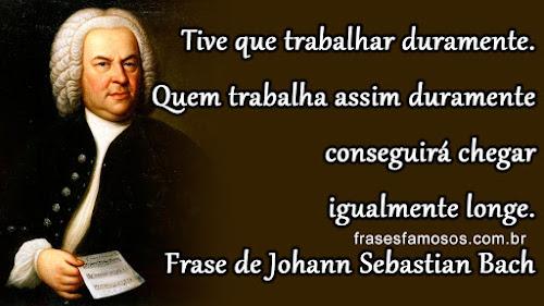 Frase de Johann Sebastian Bach