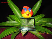 Clay Angry bird. Description: Cute small angry bird with modeling art clay.