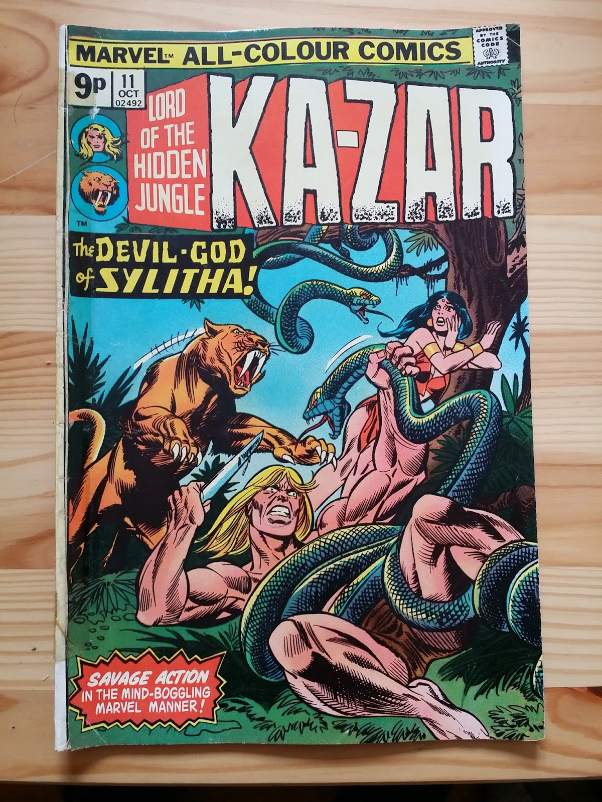 Marvel Ka-Zar Lord of the Jungle