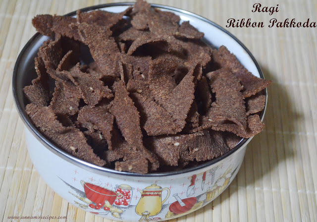 Ragi  Ribbon Pakkoda Recipe
