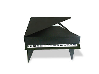 Cách gấp, xếp cái đàn grand piano bằng giấy origami - Video hướng dẫn xếp hình đồ nội thất - How to fold a grand piano