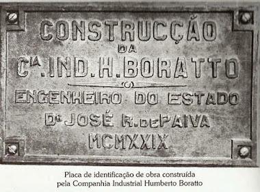 PLACA DA CIA INDUSTRIA HEITOR BORATTO