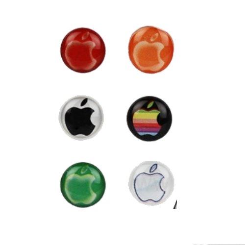colourized apple home button sticker pimp my phone