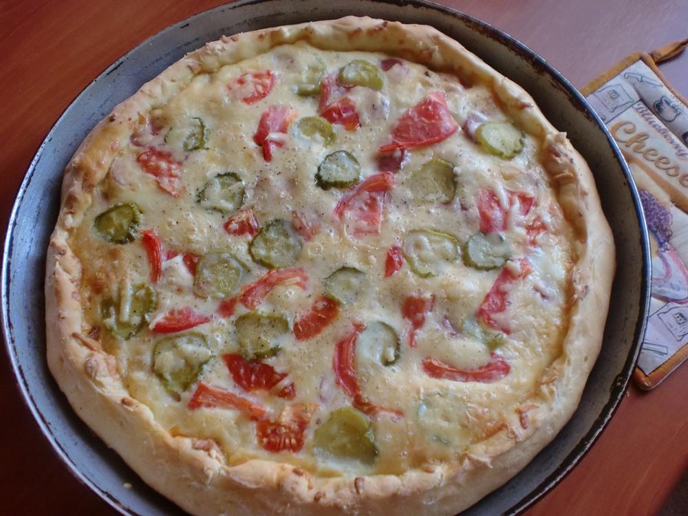 Пицца минутка без сметаны с фото