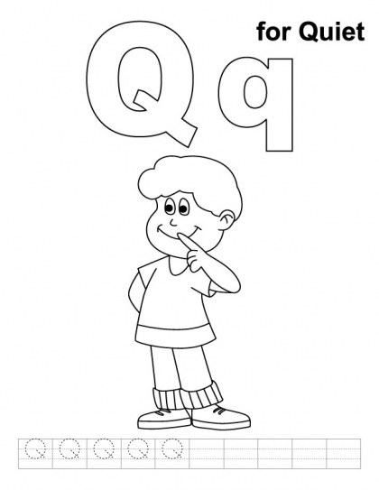 Printable Letter Q Coloring Pages : Letter qq printable coloring pages kids