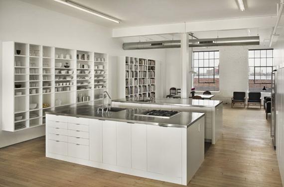 micheletlolaespritloftatelier les cuisines dans le loft. Black Bedroom Furniture Sets. Home Design Ideas