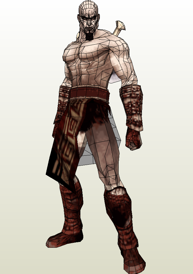 Kratos Paper Model