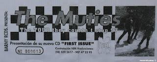 entrada de concierto de the muties