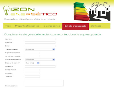 Presupuesto certificado eficiencia energética