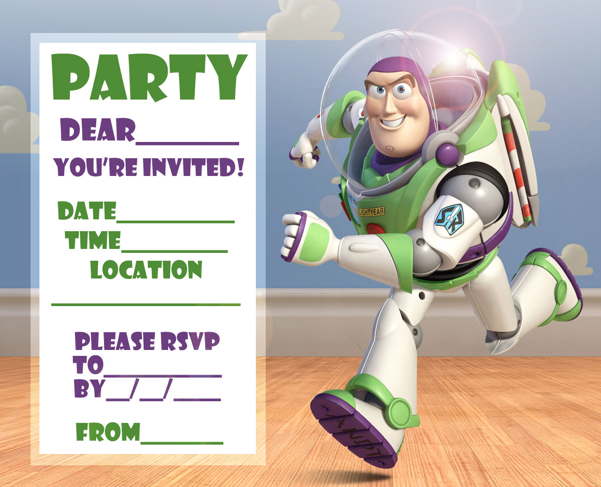Free Love Quotes: FREE Toy Story Woody and Buzz Lightyear Party ...