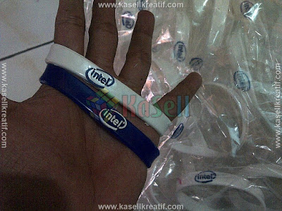 Gelang Karet Rubber Promosi Intel 1000pcs