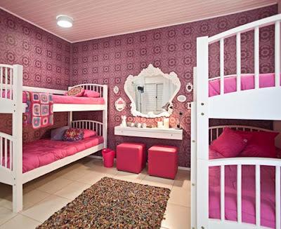 quarto meninas rosa e marrom