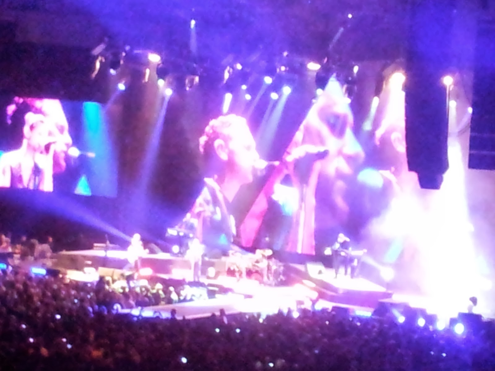 Martin Gore singing in a Depeche Mode concert