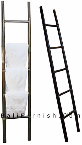 Bamboo lamp photo bamboo ladder - Decorative ladder for bathroom ...