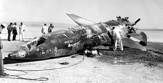 Bangkai pesawat X-15