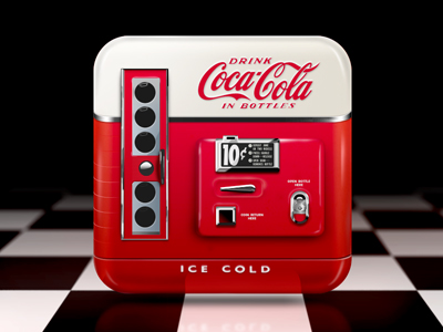 coke machine icon. Aaron Sampson