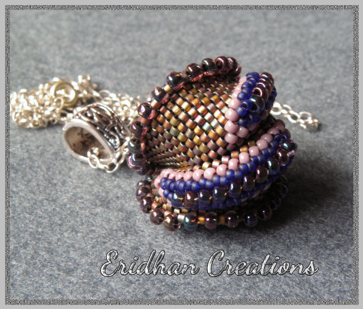 twisted peyote - beaded pendant