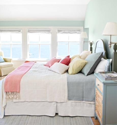 summer colors bedroom