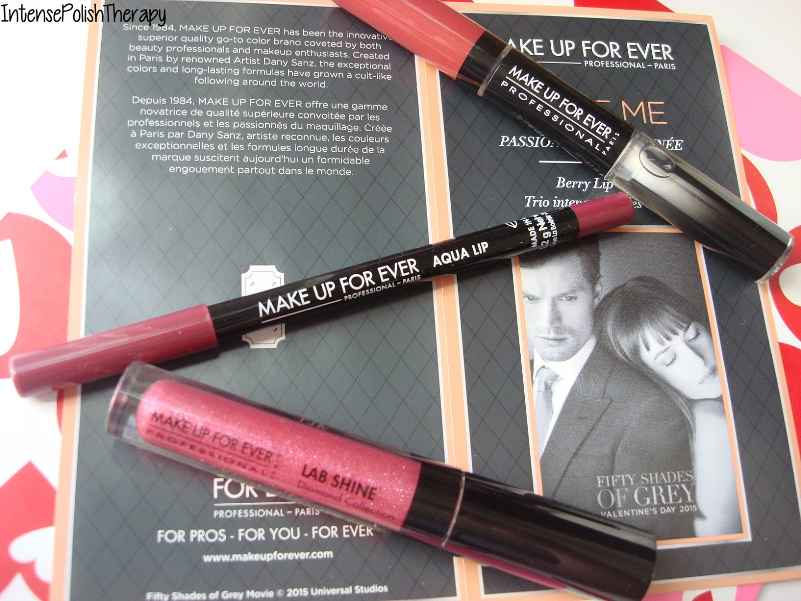 Passionate / Berry Lip Trio: Aqua Lip 10C, Aqua Rouge 50 (NEW shade) & Lab Shine Lip Gloss D4