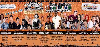 Programação Oficial do São João de Araripina 2012