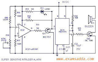 Mini Project On Intruder Alarm Circuit All For You