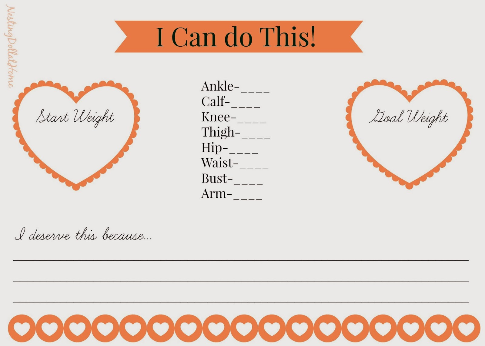 free weight loss printable