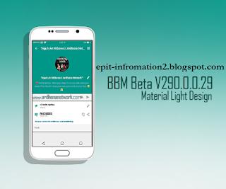 BBM Beta Material Light Apk V 290.0.0.29