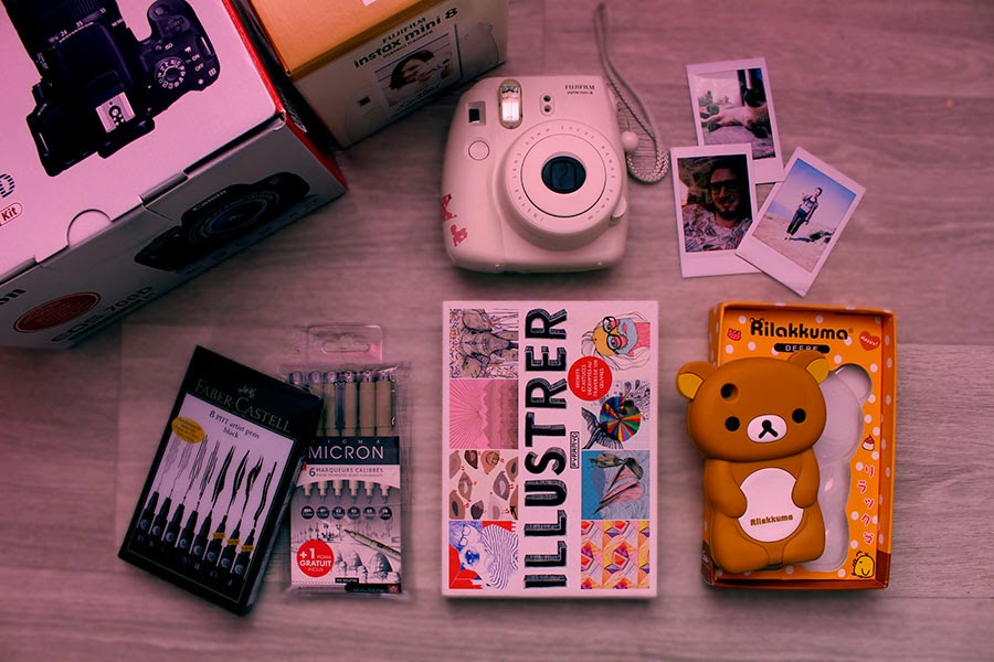 blog, canon eos 700D, ebay, enjoyk, faber castel, favoris, ikea, illustrer, instax mini 8, iphone case, micron, polaroid, pyramid, reflex, rennes, rilakkuma, us, vidéos, white, youtube,
