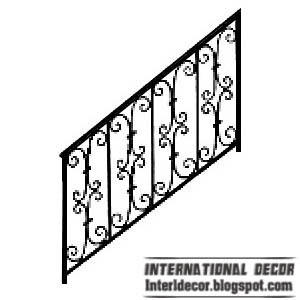iron stairs railing design image Iron stairs railings designs   Iron staircase railings designs