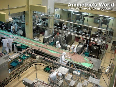 Production line at the Yakult Factory