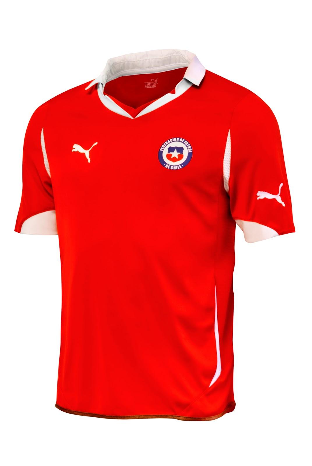 Segunda equipación / uniforme / camiseta Chile blanca puma 2012/2013