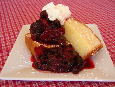 3 berry pound cake