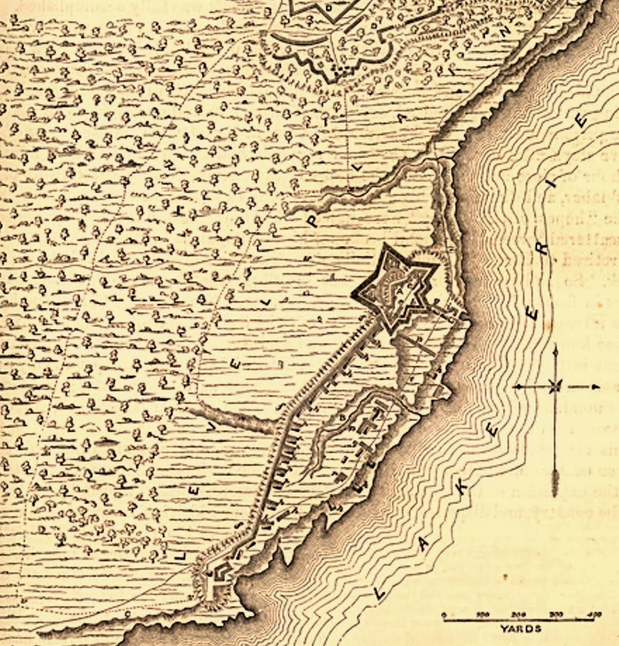 Siege And Defence Of Fort Erie Map From Benson J Lossing In The Pictorial Field Book Of The War Of 1812 Circa 1870