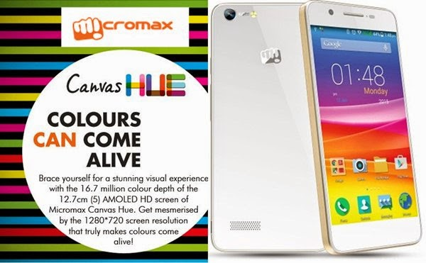 Compare Micromax Canvas Hue with Lenovo K3 - Specs and Price