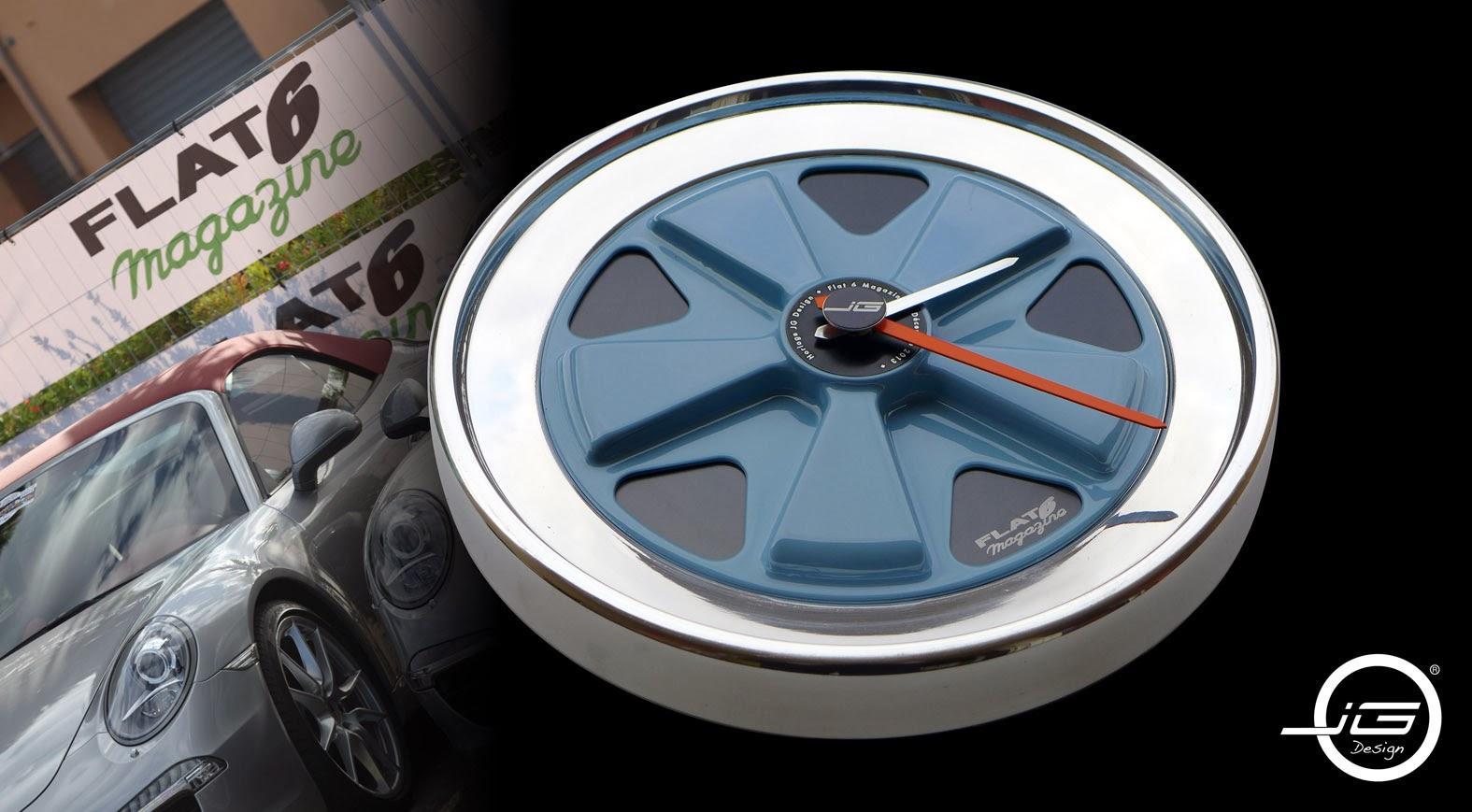 jo l goyer design horloge flat six magazine flat 6 wallclock. Black Bedroom Furniture Sets. Home Design Ideas