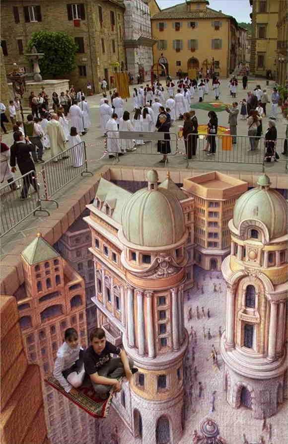 3D Lukisan Aspal Jalan Kurt Wenner