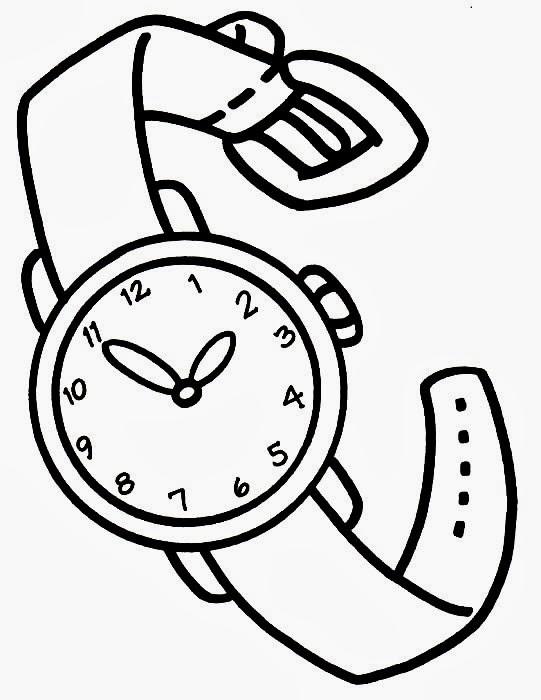 watch coloring page educar x rel gio para montar e colorir
