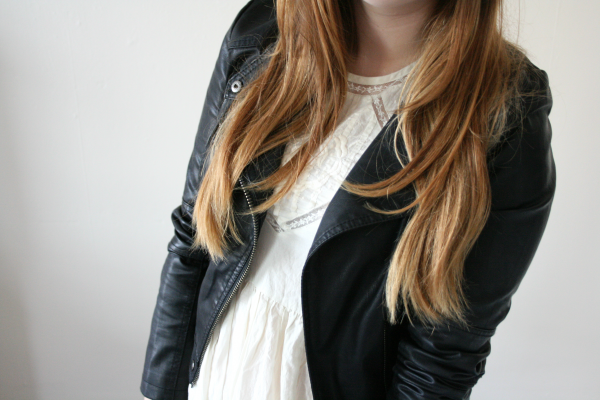 leather jacket topshop, topshop alexa dress, vintage look, topshop outfit post