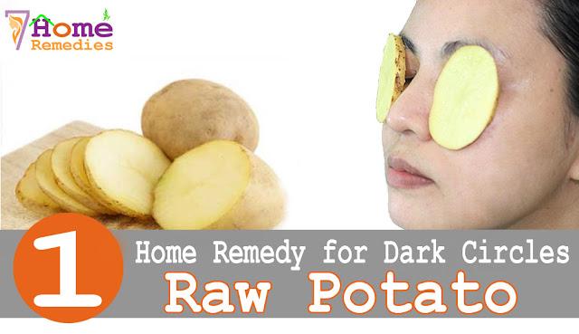 Raw potato to remove dark circles