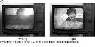 Совет 40. Когда в кадре ест телевизор, надо следить что бы не было черных полос и других искажений, связанных с особенностями показа кадров на телевизоре.