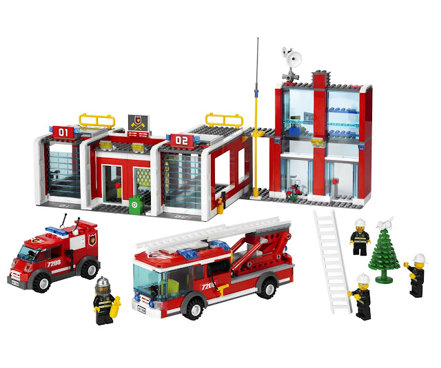 Lego City Fire Station 7208 Lego City Fire Station 7208