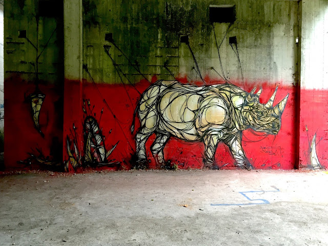 Touring through Belgium, our friend DZIA just dropped a series of Rhinos on the streets of Mechelen and Antwerp.