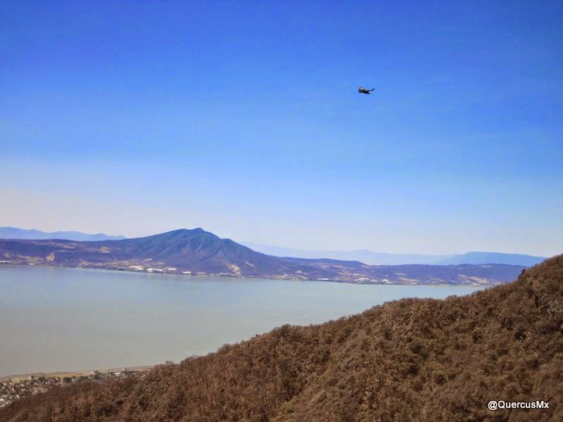 Lago de Chapala visto desde la Sierra el Tecuán