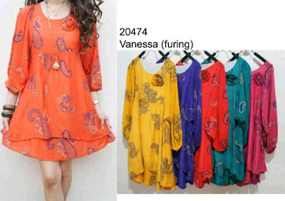 Blouse Vanessa + Furing  Kode 20474