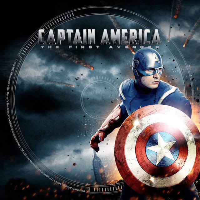 Label DVD/Bluray Captain America The First Avenger