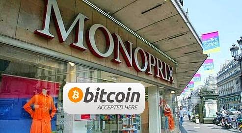 monoprix accepte bitcoin